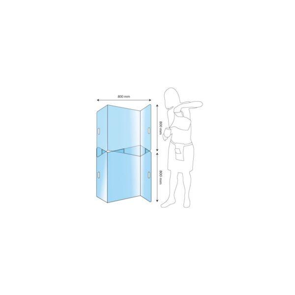 Protection plexiglas x2 séparation tables M anticovid 80x160cm Germprotect 1