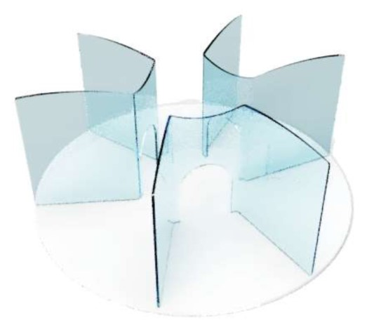Protection plexiglas restaurant table ronde anticovid 53,9x50cm Germprotect 2