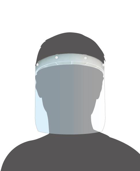 Visière de protection plexiglass avec 5 écrans de rechange Germprotect 2