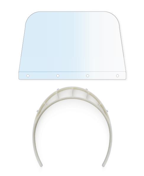 Visière de protection plexiglass avec 5 écrans de rechange Germprotect 3